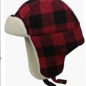 Old navy red flannel trapper hat